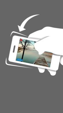 BLUSH Drehe dein Telefon und verändere das Layout